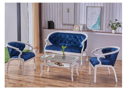 European Leisure Sofa Beauty Salon Shop Reception Studio Cloth Art Small Family Clothing Store White Sofa