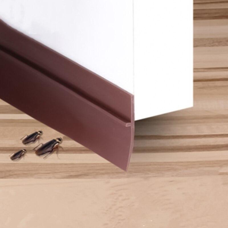 Silicone Self-Adhesive Weather Stripping Under Door Draft Stopper Window Seal Strip 45mm  Insulator Door Sweep Prevent