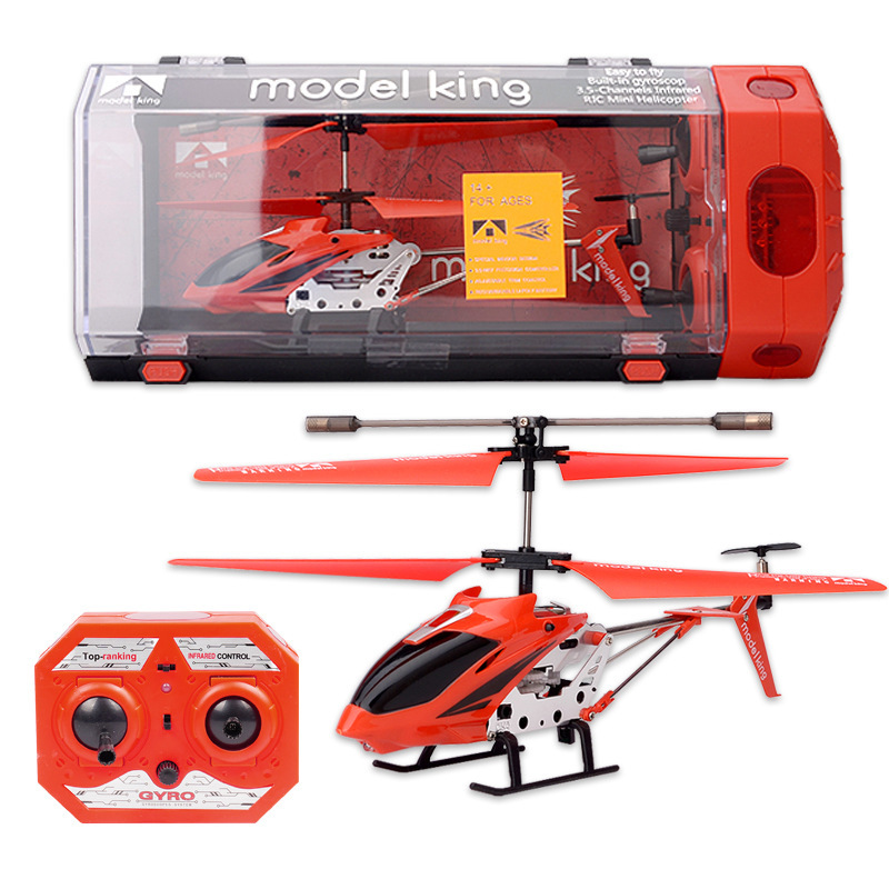 3.5 Way Drop-resistant Alloy Mini Helicopter Airplane Aviation Model Remote Control Aircraft Children Remote Control Toy