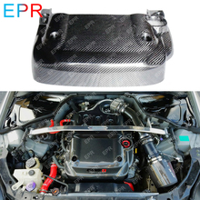 For Nissan 350Z OEM Carbon Fiber Engine Cover Body Kit Car Styling Car Tuning Part For 350Z Engine Cover new for nissan 200sx s14 s14a silvia carbon fiber sr20 sr20det oem engine coil plug cover car accessories car styling