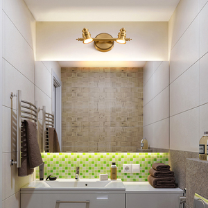 Image 5 - Maquiagem Profissional Completa Bathroom Mirror Front Lamp Full Copper Bedroom Dresser Lighting Modern Minimalist LED Wall Light