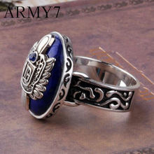 Vintage Punk Ethnic Big Ring For Men Diaries Salvatore Damon Stefan Finger Family Ring Luxury The Vampire Ring Gifts Ornaments(China)