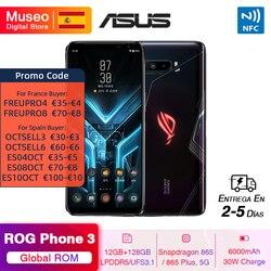 ASUS ROG PHONE 3 Snapdragon 865 / 865 Plus 5G мобильный телефон 12 Гб 128 ГБ 6,59 ''144 Гц