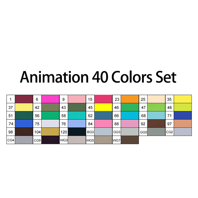 40 Animation colors