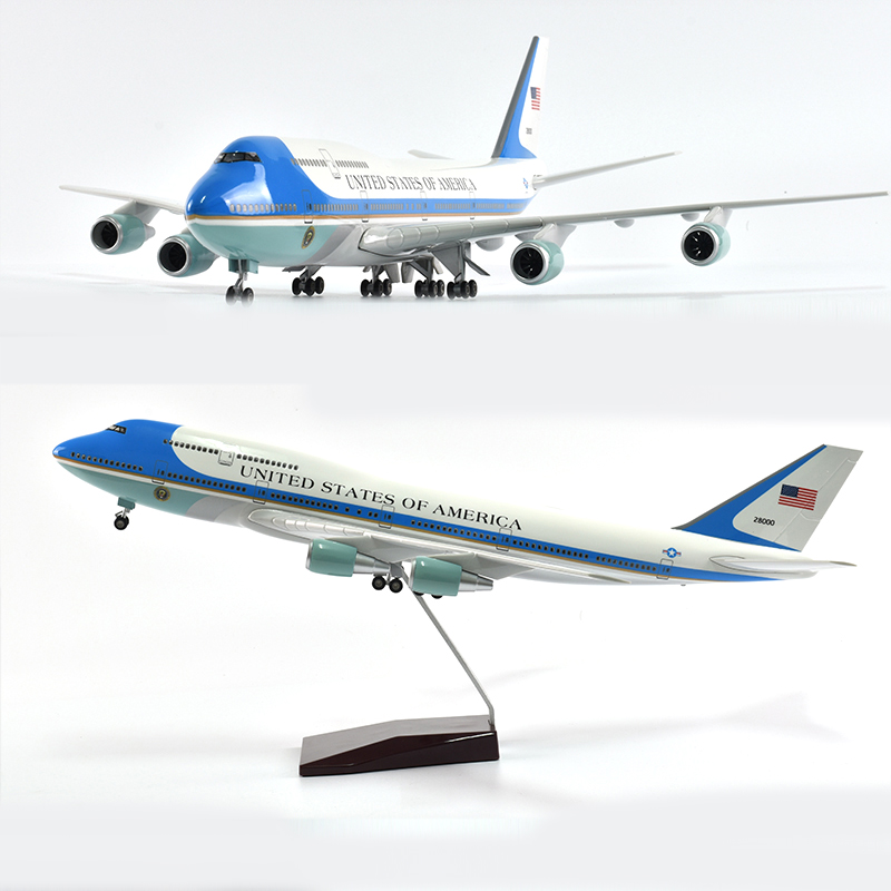 JASON TUTU 46cm UNITED STATES OF AMERICA Air Force One Boeing 747 Plane Model Airplane Model Aircraft Model 1/160 Scale Diecast