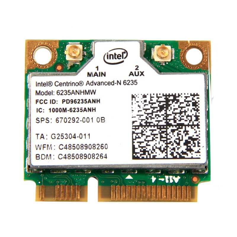 Dual Band 300 Мбит/с Беспроводной Bluetooth 4,0 для Intel Centrino Advanced-N 6235 6235ANHMW Половина Mini PCI-E Wi-Fi кард-802.11Agn