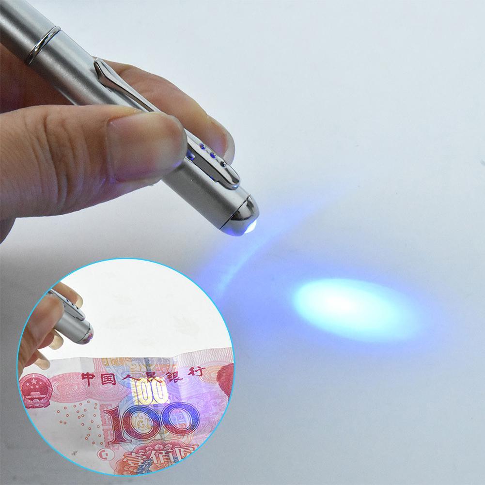 LED UV Light Multifunction Ball Pen Secret Invisible Ink School Office Supplies