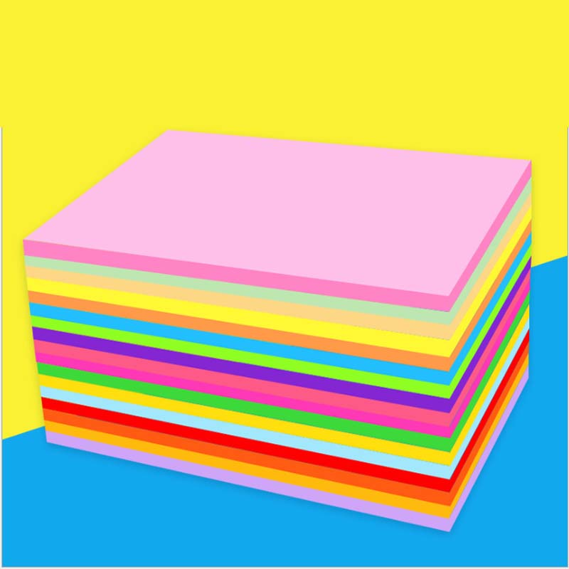 A4 Color copy paper with White double sided coloured handmade Folding DIY paper cut craft origami printing document file 1