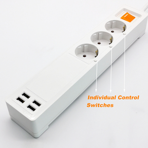 Image 3 - Smart Wifi Power Strip Outlets Surge Protector Multiple EU Extension USB Sockets Individual Remote Control for Alexa Google Home