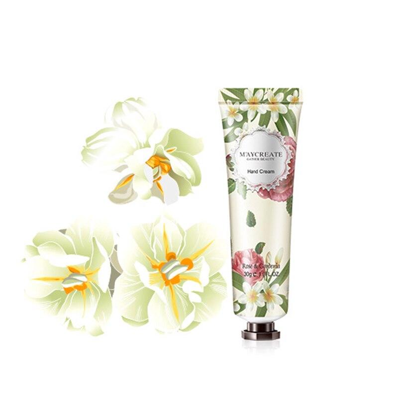 30g Flower Orchid Gardenia Chrysanthemum Vanilla Moisturizing Hydrating Hand Cream For Winter Hand Care Nourishing Skin Care
