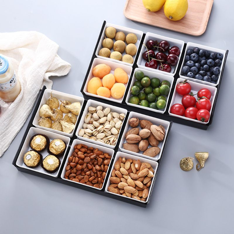 Multifunction Japan Style Fruit Platter Serving Tray Creative Plates Storage Box For Snacks Nuts Desserts