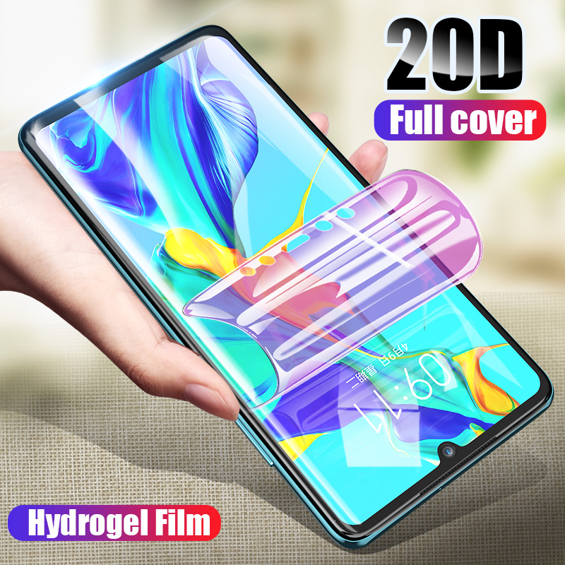 20D Screen Protector Hydrogel Film For Huawei P20 P30 Lite Mate 30 Pro Full Protective Film For Honor 10 9 Lite Film Not Glass