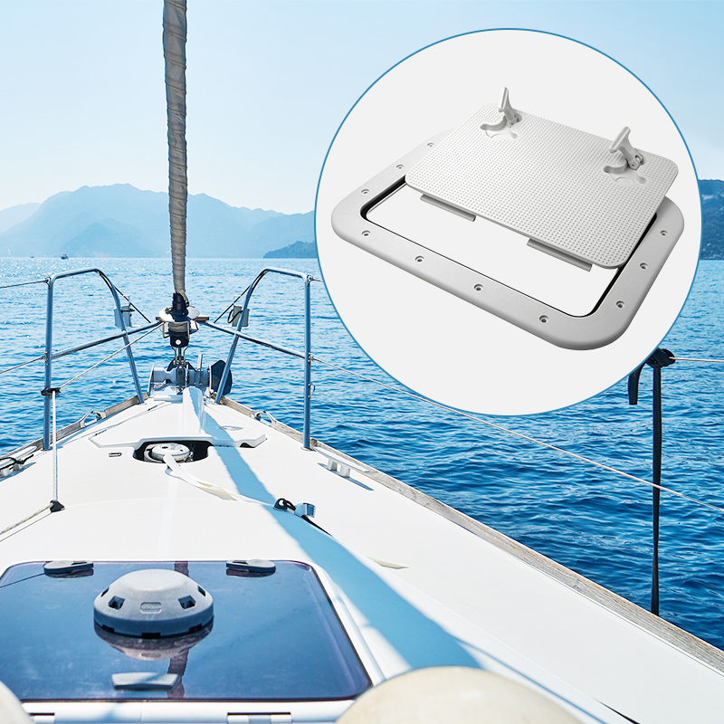 425*315mm Marine Access Hatch ABS White Marine Hatch Deck For Boat Yacht RV Non-Slip Removal Knob Anti-Aging Boat Accessories