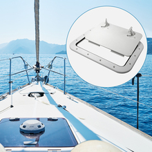 425*315mm Marine Access Hatch ABS White Deck For Boat Yacht RV Non-Slip Removal Knob Anti-Aging Accessories