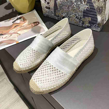 Female Shoes Shallow-Loafers Slip-On Summer Espadrilles Breathable Women Mesh Solid Round-Toe