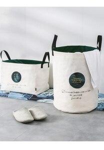 Image 5 - 세탁 바구니 접는 더러운 옷 대용량 저장 상자 주최자 세탁 패션 스타일 YORO