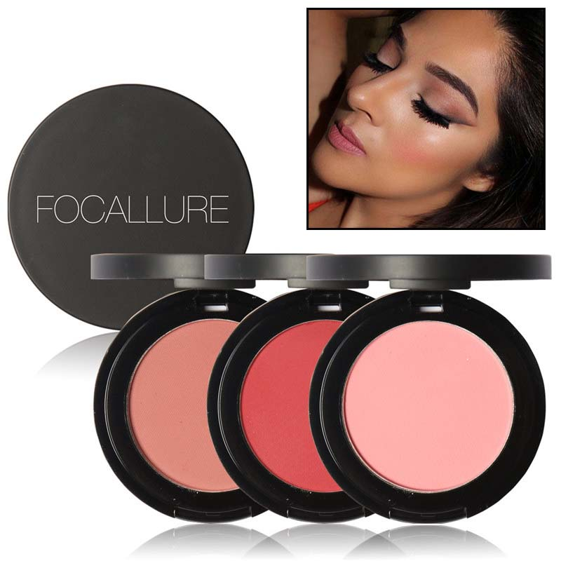 FOCALLURE 11Colors Blush Makeup Cosmetic Natural Pressed Blusher Powder Palette Charming Cheek Color Make Up Face Blush