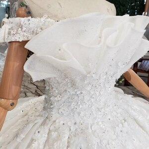 Image 5 - HTL163G 特別ウェディングドレス白のような純粋なをショルダーレースアップバック高級ウェディング 2019 新ファッションデザイン