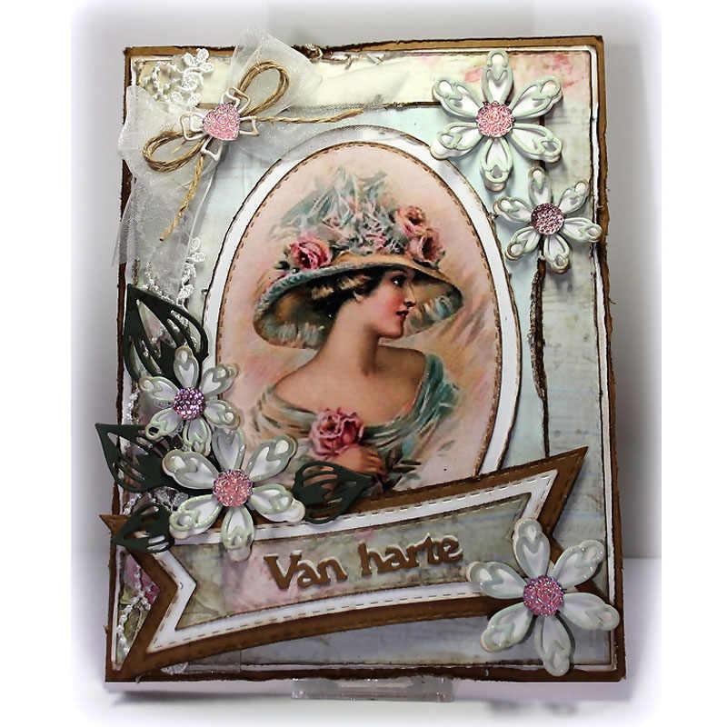 Matryce do cięcia metalu holandia holenderski sezon świąteczne zwroty cut foremka szablon księga gości papier do robienia kartek formy rzemieślnicze umiera nowy 2019