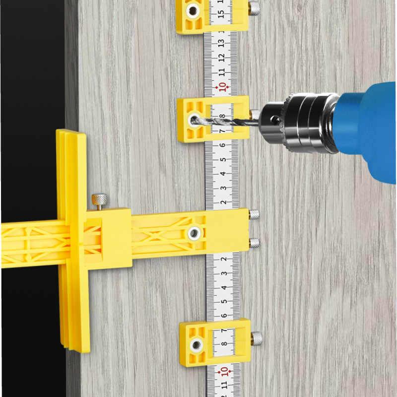 トップ!-ドリルガイドスリーブキャビネットハードウェアジグ引き出しウッド掘削 Dowelling 穴ジグ家具パンチツール