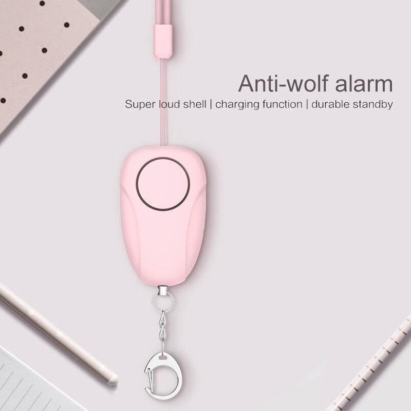 Personal Alarm 120DB  Anti Lost Wolf Self-Defense Safety Attack Emergency Alarms For Women Kids Elderly Safety Alarm Keychain