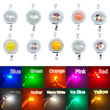 цена на 10X 5W High Power LED Light-Emitting Diodes LEDs Chip SMD Light Bead Emitter White Green Red Blue Yellow Bulb Diodes Lamp Diode