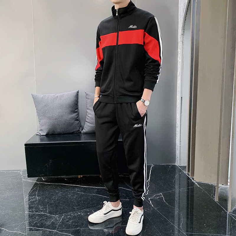 Sweatsuit Mannen Set Mode Lente Sporting Pak Hoodies Sweatshirts Jas + Broek Sportkleding 2 Delige Set Trainingspak Voor Mannen Kleding