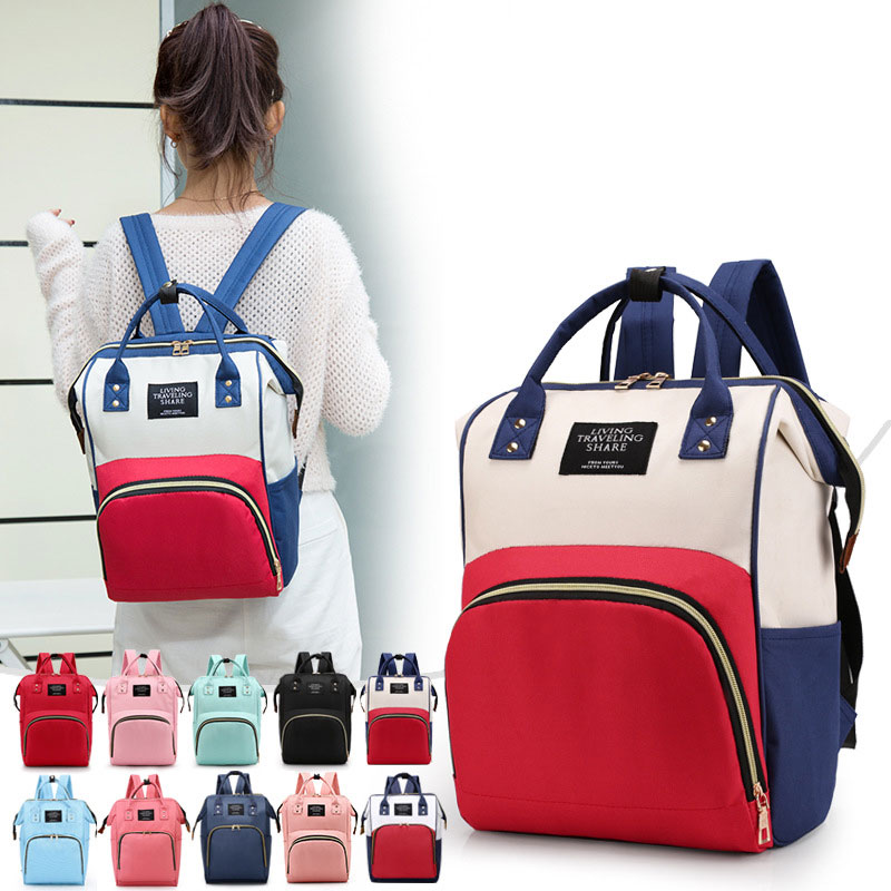 Fashion Mummy Maternity Nappy Bag Large Capacity Waterproof Diaper Bag Backpack Travel Stroller Bag Women Baby Care Nursing Bag