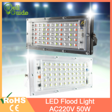 цены LED Flood Light 50W RGB Led Floodlight Remote control COB chip LED street Lamp AC 220V 240V waterproof IP65 outdoor Lighting