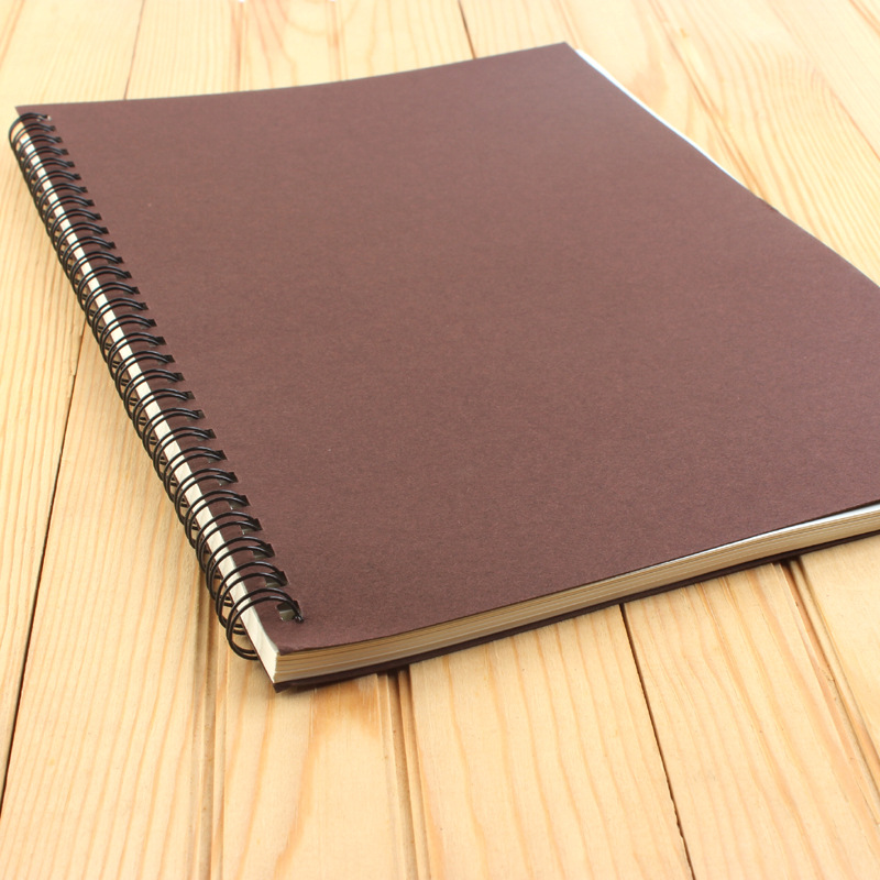 Notepad A4 School Life Page Notebook Coil Installed Diary B5 Homework 16 Open School Office Stationery Kraft Paper Notebook