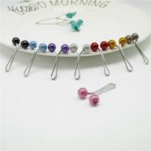 SP141 12Pcs Muslim Hijab Clip Brooch Pins Scarf Safety Clip Women Wedding Pin