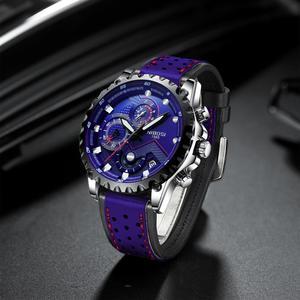 Image 2 - NIBOSI reloj deportivo para hombre, de pulsera, de cuarzo, resistente al agua, grande a la moda, de acero inoxidable, Masculino, 2021