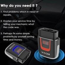 Viecar elm327 v2.2 vp003 vp004 pic18f25k80 obd2 carro diagnóstico bluetooth 4.0 wifi obd ferramenta de scanner elm 327 v2.2 para android/ios