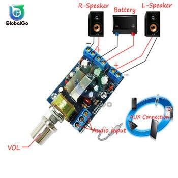 цена на TEA2025B 2.0 Stereo Dual Channel Mini Audio Amplifier Board For PC Speaker 3W+3W 2.0 Stereo Amplifier Board