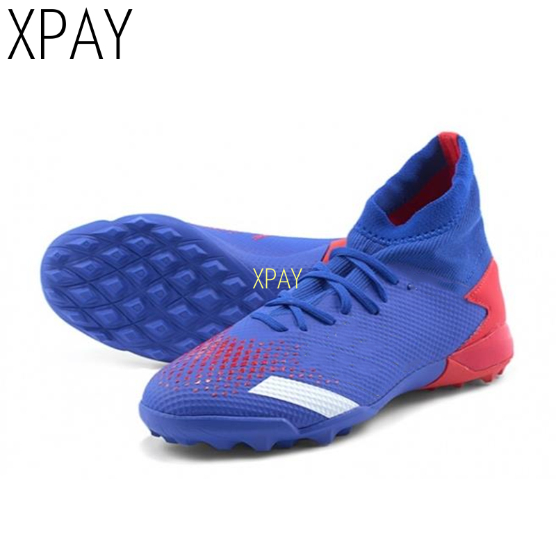 Breathable Soccer Shoes Mens Football Shoes High Ankle Training Cleats Sneakers Boys Kids Turf Football Boots