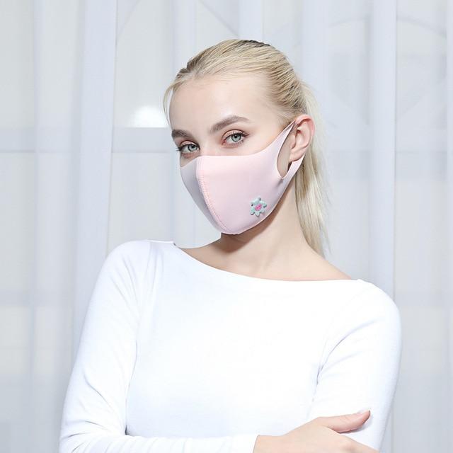 Cute Heart Print Unti-dust Mask Mouth Mask Kpop Cartoon Summer Masks Anti-UV Stereo Unisex 1