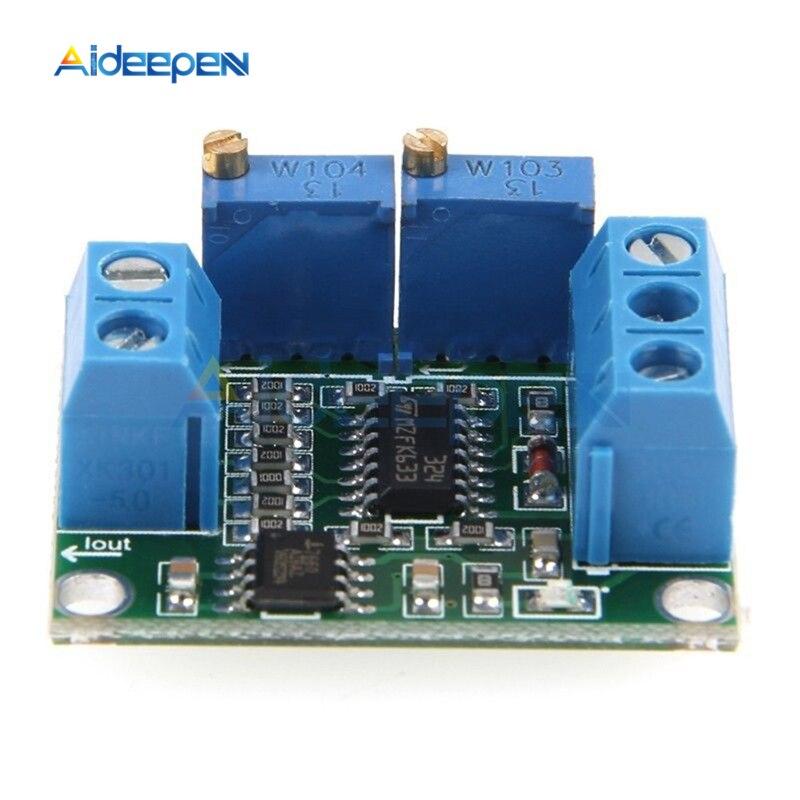 4-20mA to 0-2.5V 3.3V 5V 10V 15V Isolation Current to Voltage Transmitter Signal Converter Transformer Module Board DC 12V 24V