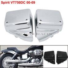 أغطية انسيابية جانبية لبطارية الدراجة النارية هوندا الظل الروح VT750 تيار مستمر 2000 2009 الارملة السوداء 2000 2007 واقي إطار اللوحة