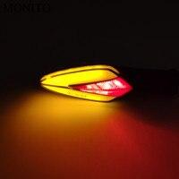 LED Moto Clignotants Lumière Feux Arrière Moteur Accessoires Jaune Lampe Rouge Pour Kawasaki z 1000 900 800 250 650 z 1000 sx|  -