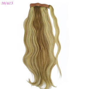 1Pcs 18 Inches Human Hair Ponytail Straight Hair Extensions 80gram Wrap Around Clip In Pony Tail 100% Remy Hair Free shipping