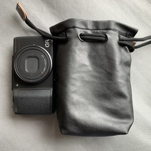 DSLR Waterproof Photo Camera Genuine leather Bag Body Case For GRII GRIII GR3 Sony RX100m6m5 цена в Москве и Питере