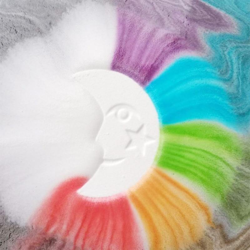 4шт красочный облако ванна бомбы подарок набор с эфирными маслами спа пузырь для женщин X7YB