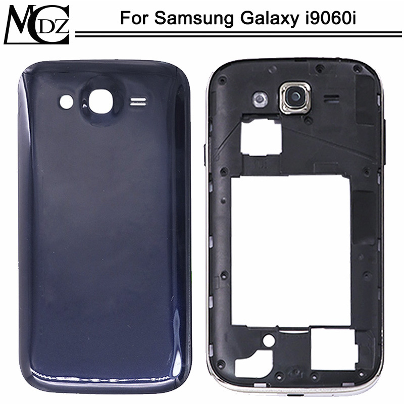 Nieuwe Batterij Cover Voor Samsung Galaxy Grote Neo I9060i Back Cover + Midden Frame + Camera Frame Achter Chassis Behuizing title=