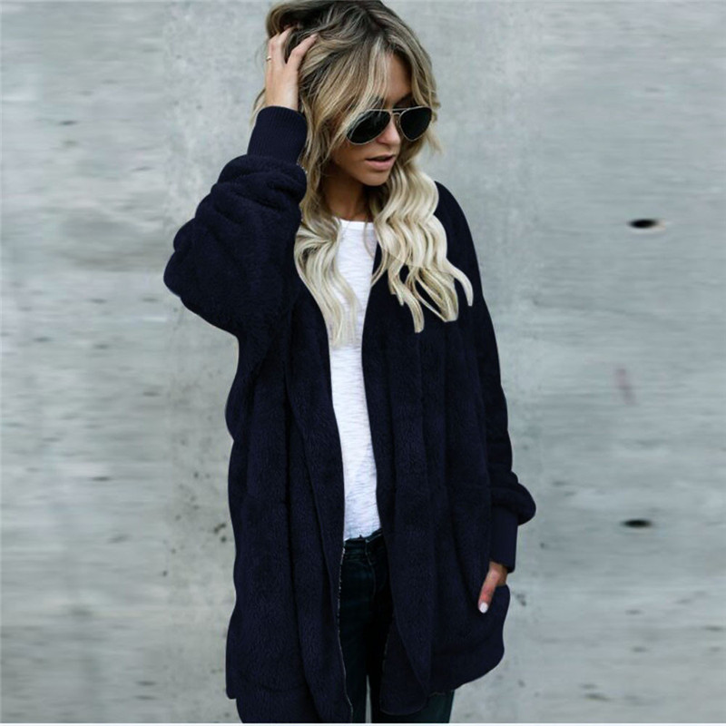 Feminine Coat Women Hooded Long Coat Jacket Hoodies Parka Outwear Cardigan Coat Jacket Coat Sweater Women's Sweater