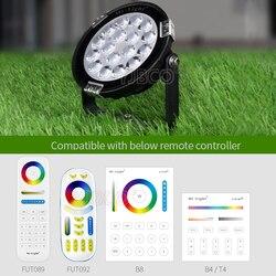 Miboxer 9W RGB + wtc oświetlenie ogrodowe LED DC24V/AC86 ~ 265V IP65 wodoodporny zewnętrzny LED oświetlenie kompatybilny z WiFi 2.4G bezprzewodowy pilot zdalnego