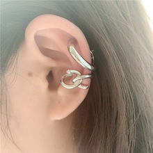 irregular cool taste ear buckle double fashion  jewelry cuffs punk clip earrings without piercing