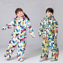 Новинка 2020 детский лыжный костюм для девочек зимняя детская
