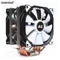 Процессорный кулер вентилятор ШИМ 120 мм 6 тепловых трубок с вентиляторы RGB кулер вентилятор охлаждения для Intel lga 775 115x1356 1366 и AMD AM4 AM3 + x79 x99 x299 2011