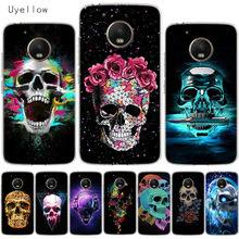 Uyellow Neon Skull Soft Cover For Motorola G4 G5 G5S G6 G7 E4 E5 Plus Play Phone Case Moto Power Silicone TPU Coque Shell