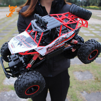 Oversized remote control car drift off-road vehicle four-wheel drive climbing high-speed racing boy charging toy car rc car boy gift four wheel drive climbing 2 4g tipping remote control car off road stunt twisting high speed car deformation torque car
